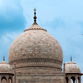 Mega structure! by Rahul Panda - Buildings & Architecture Statues & Monuments ( monuments, taj mahal, cloudscape, agra, india )
