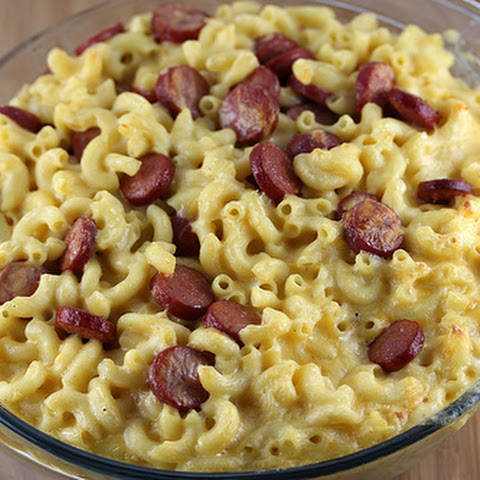 Hot Dog Mac and Cheese Casserole