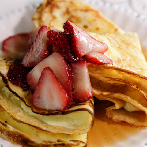 Curtis Stone's Crêpes with Homemade Ricotta and Maple-Strawberry Syrup