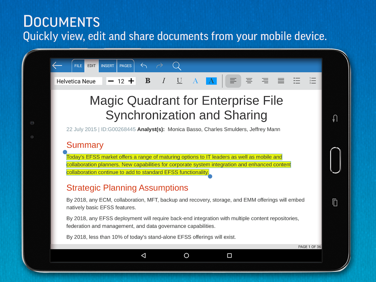 SmartOffice - View & Edit MS Office files & PDFs Screenshot 11