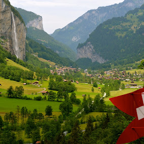 Switzerland by Seamus Crowley - Landscapes Travel ( swiss, mountain, red, green, valley )