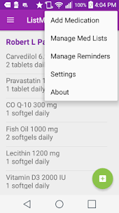 ListMeds - Plus screenshot for Android