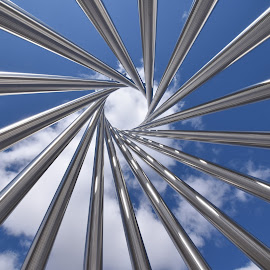 Look UP by Maureen Rueffer - Abstract Patterns ( clouds, blue sky, pattern, art, artwork )