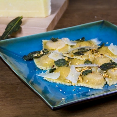 Butternut Squash-Jalapeno Ravioli with Brown Butter and Sage