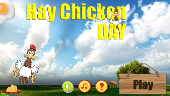 Hay Chicken Day Game - screenshot