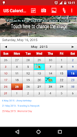 Screenshot of US Calendar 2015