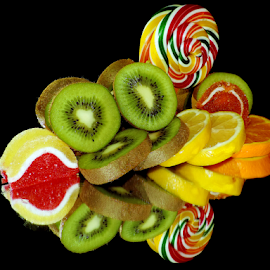 citrus with candys by LADOCKi Elvira - Food & Drink Fruits & Vegetables ( candys, fruits )