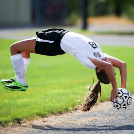 Airborne! by Christina Wallace Fisher - Sports & Fitness Soccer/Association football ( soccer )