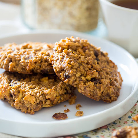 Apple Raisin Oatmeal Breakfast Cookies