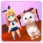 Lovely Kitty Cat Virtual Pet Icon