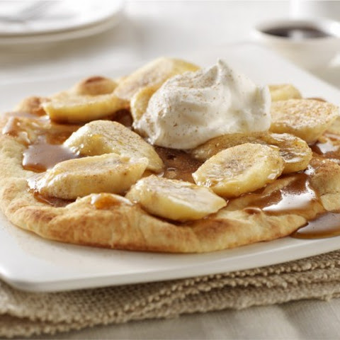 Bananas Foster with Cinnamon Sugar Naan