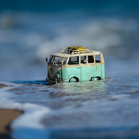 volkswagen van by George Papapostolou - Transportation Automobiles ( car, kos island, nikon, small, volkswagenvan, toy, object )