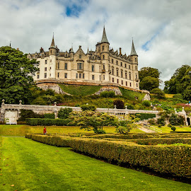 The Gardens of Dunrobin by Nathan Robertson - Buildings & Architecture Public & Historical ( leading lines, gardens, castle, scale, landscape )