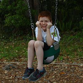 Child on a swing by Ivy Luna - Babies & Children Child Portraits ( #child, #child on the swing, #child portraits, #swing, #happy mood.,  )