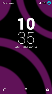 Pink Dark theme for Xperia - screenshot