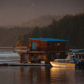 Home At Sea by Tanya Greene - Buildings & Architecture Homes ( home, tofino, pacific ocean, floating, ocean )