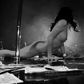 dancer in light by John Brock - Nudes & Boudoir Artistic Nude ( nude, black and white, artistic, stripper, dancer )