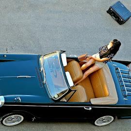 Vintage for Fashion by Francis Xavier Camilleri - Transportation Automobiles ( pose, fashion, model, girl, vintage, triumph )