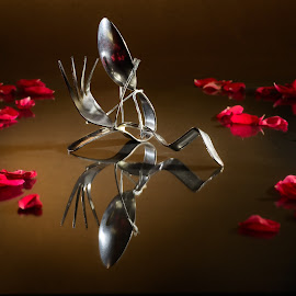 Love  by Adriano Nicastro - Artistic Objects Still Life ( love, in love, fork, spoon, steel )