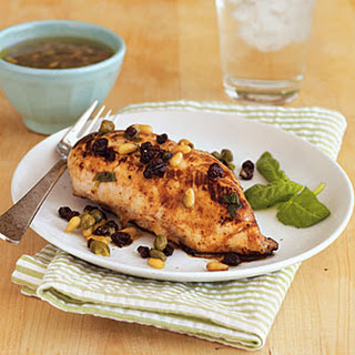Lemon Chicken with Currants and Pine Nuts