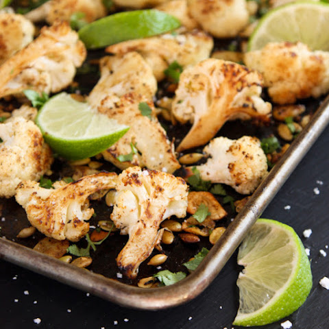 Roasted Mexican Cauliflower with Pepitas