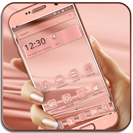 Rose Gold Silk Pink Theme (app)