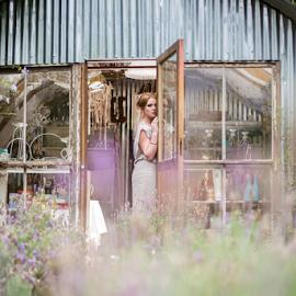 Thoughts by Lood Goosen (LWG Photo) - Wedding Bride ( girl, doorway, woman, lady, bride )