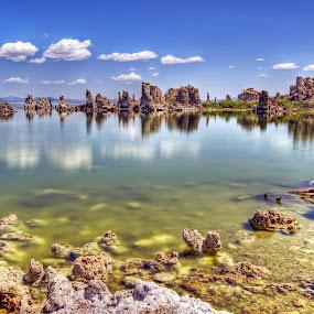 Mono Lake by Gerardo Robledo - Landscapes Waterscapes ( water, mono lake, california, travel, rocks )