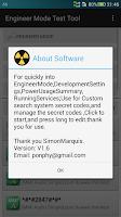 Screenshot of Engineer Mode Test Tool