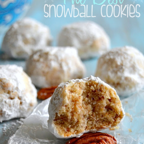 The BEST Snowball Cookies {Or Russian Tea Cakes. Or Mexican Wedding Cookies}