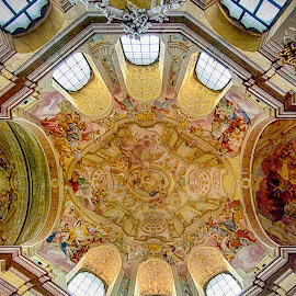 Rajhrad church by Jiri Cetkovsky - Buildings & Architecture Public & Historical ( rajhrad, interior, church, barocco, architecture, historic )
