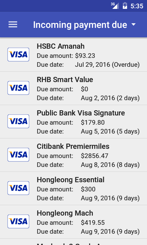 Credit Card Manager Pro Screenshot 4