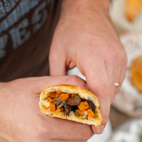 Cornish Pasties with Steak, Sweet Potato and Butternut Squash {Hand Pies}