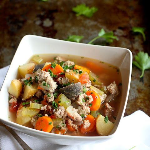 Slow Cooker Turkey & Potato Soup