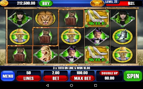 Wizard of Oz 3 Slots - screenshot