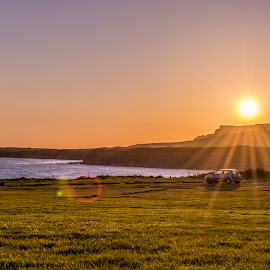 Kimmeridge Bay  by Andy Aspray - Landscapes Sunsets & Sunrises ( purbeck, sunset, jurassic coast, kimmeridge bay, dorset )