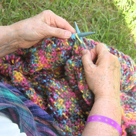 Knitting by Rita Goebert - People Body Parts ( knitting; leisure activities; bluegrass festivals,  )