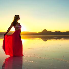Salt Flats Sunset by Scott Myler - Wedding Bride