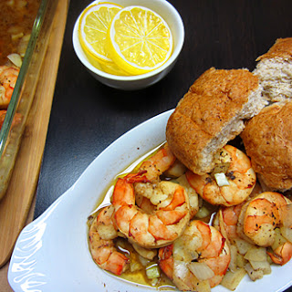 Onion Garlic Baked Shrimp