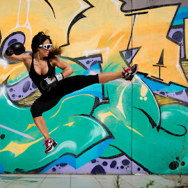 FIGHT FOR YOUR GOALS by Bruno Seabra - Sports & Fitness Fitness ( everlast, fitness, graffiti, boxe, jump )