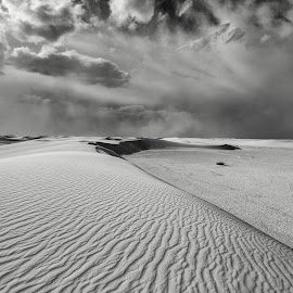 Dune by Michael Keel - Landscapes Deserts ( dunes, desert, white sands national monument, black and white, new mexico )