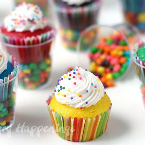 Mini Cupcakes in Candy Filled Shot Glasses