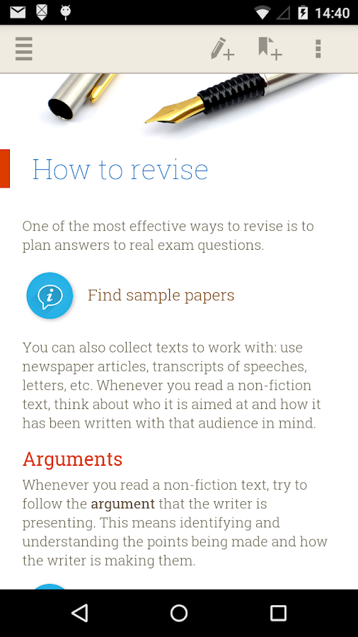 GCSE English Revision Guide Screenshot 1