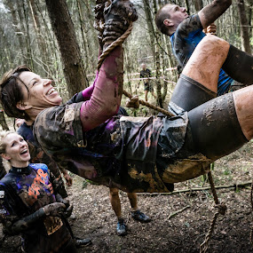 by Guy Henderson - Sports & Fitness Running ( muddy, obstacle course, fitness, rope climb, mud run, athlete, ocr )