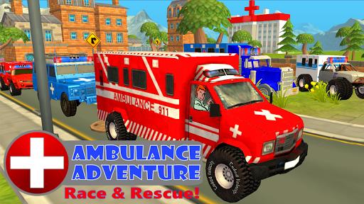 Ambulance Race Rescue Sim 911 - screenshot