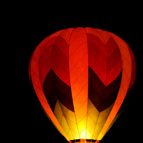 Night Glow by Gabrielle Libby - Transportation Other ( maine, dark, hot, air, night, glow, balloon )