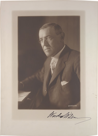 "View this portrait of President Wilson on the <a href=""http://www.gilderlehrman.org/collections/220afeb9-60d4-4e86-bd02-074450430795"">Gilder Lehrman website</a>."