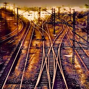 Track to endless. by Sagar Lahiri - Digital Art Places ( sopnomakha_photo, sagarlahiri, railwaytrack hdr )