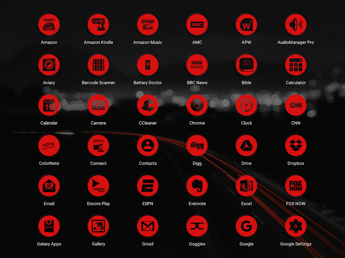 Miller Red - Icon Pack Screenshot 9