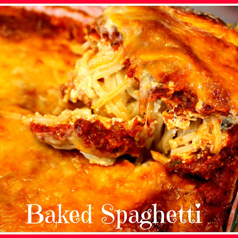 baked spaghetti with cream cheese and sour cream